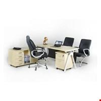Jual Meja kantor Direktur Aditech FR 05 + Laci Dorong
