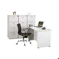 Jual Meja Kantor Staff utama Aditech SS 6012 + 3 Laci gantung (120cm)