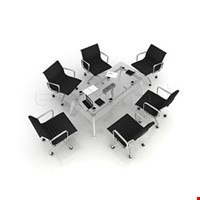 Jual Meja Meeting Enduro Glaze Meeting Table with Magnet Joint System