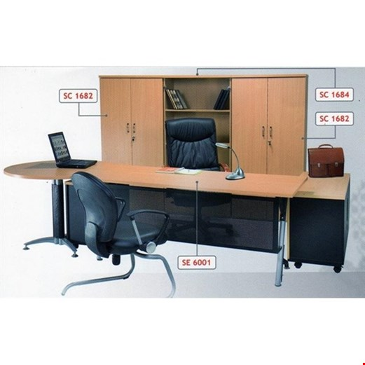 Jual Meja Direktur Aditech SE 6001 (260cm)