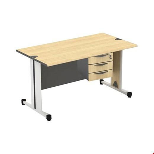 Jual Meja Kantor utama Modera SOD 6012 (120cm) + 3 Laci gantung