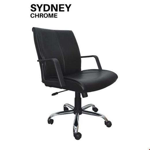 Jual Kursi Kantor Uno Sydney Chrome (Oscar/Fabric)